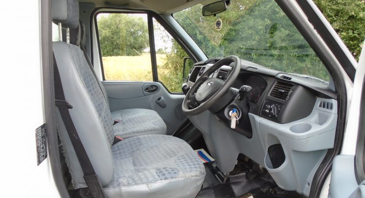 2013 13 ford transit 125 T350 factory tipper c/w alloy cage 6speed